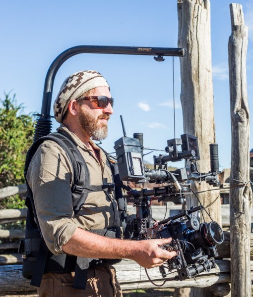 Easyrig Vario 5 with Gimbal Vest and extended arm now available at Film Equipment Hire