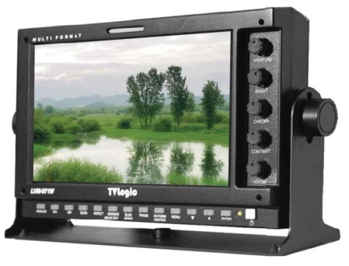 7″ TVLogic LVM-074W monitor for rent at Film Equipment Hire