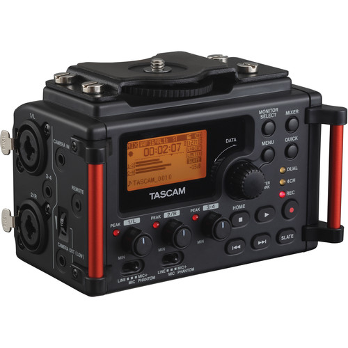 Tascam DR-60D 4-Channel Portable Recorder for rent at Film Equipment Hire
