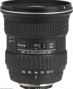 Tokina 11-16 2.8 (IF) DX for rent at Film Equipment Hire