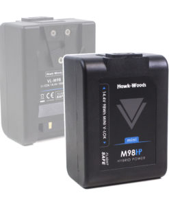 Hawk-Woods 98Wh mini V-lok battery + Charger to rent at Film Equipment Hire