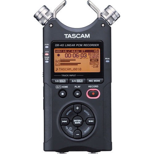 Tascam DR-40 4-Track Handheld Digital Audio Recorder for rent at Film Equipment Hire