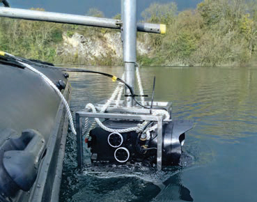 Boat Mounted Manually Operated Polecam for rent at Film Equipment Hire