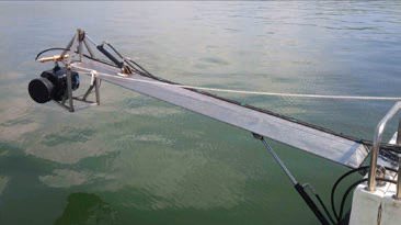 Boat-mounted Hydraulic Camera crane for rent at Film Equipment Hire
