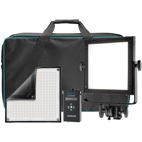Westcott Flex Cine Bi-Color LED X-Bracket Kit (1 x 1') for rent at Film Equipment Hire